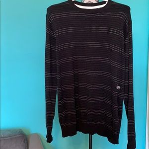 Billabong Striped Dotted Crew Neck Sweater L